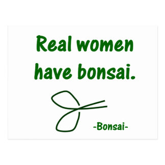 Real Women Have Bonsai , design with shears Postcard