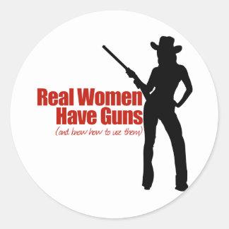 Real Women Have Guns Classic Round Sticker