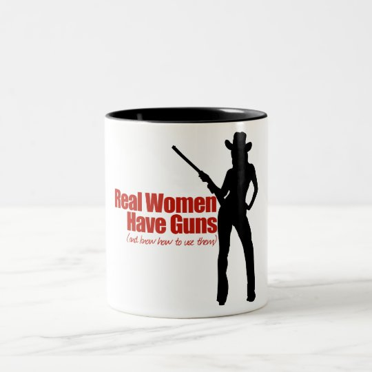 Real Women Have Guns Two-Tone Coffee Mug