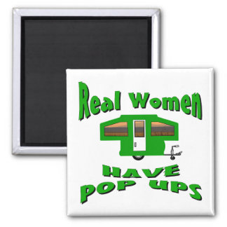 Real Women Have Pop Ups 2 Inch Square Magnet