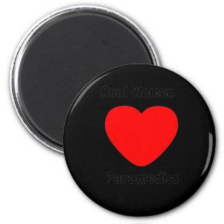 Real Women Heart Paramedics 2 Inch Round Magnet