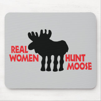 Real Women Hunt Moose Mouse Pad