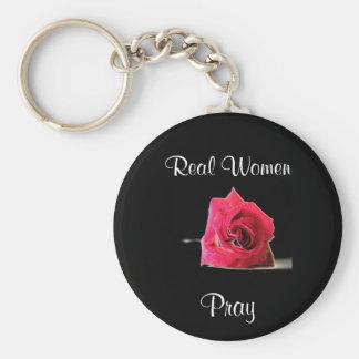 Real Women... Basic Round Button Keychain