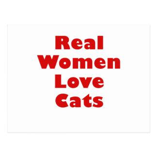 Real Women Love Cats Postcard