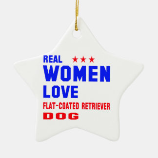 Real women love Flat-Coated Retriever dog Ceramic Ornament