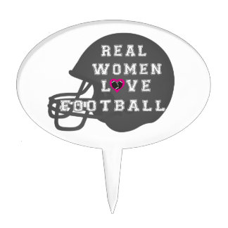 Real Women Love Football Apparel and Accessories Cake Pick