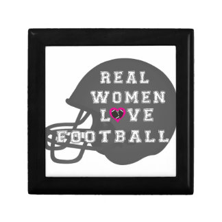 Real Women Love Football Apparel and Accessories Trinket Box