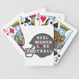 Real Women Love Football Apparel and Accessories Poker Cards