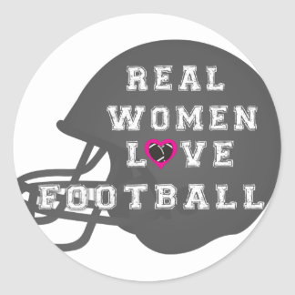 Real Women Love Football Apparel and Accessories Sticker