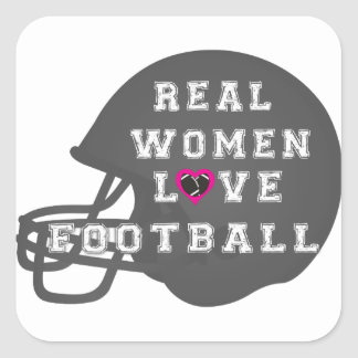 Real Women Love Football Apparel and Accessories Stickers
