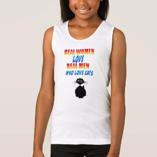 Real Women Love Real Men Who Love Cats Tank Top