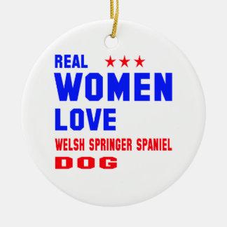 Real women love Welsh Springer Spaniel dog Ceramic Ornament
