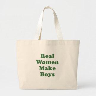 Real Women Make Boys Tote Bags