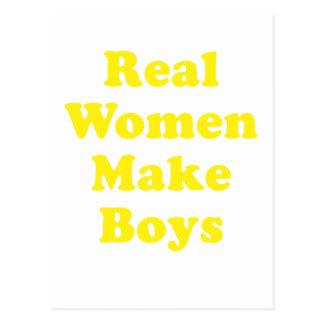 Real Women Make Boys Postcard