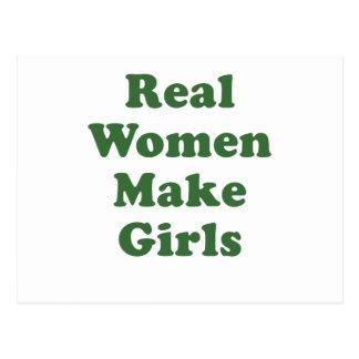 Real Women Make Girls Postcard
