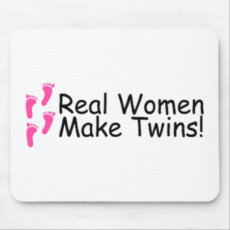 Real Women Make Twins Baby Girls Mouse Pads