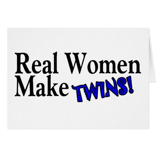 Real Women Make Twins Blue Card