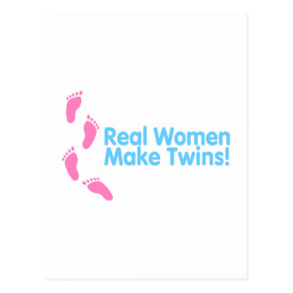 Real Women Make Twins (Blue Pink) Postcard