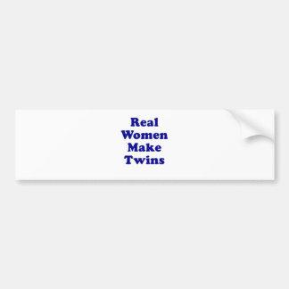 Real Women Make Twins Car Bumper Sticker