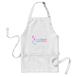 Real Women Make Twins (Pastel) Adult Apron