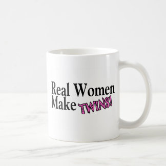 Real Women Make Twins Pink Coffee Mug