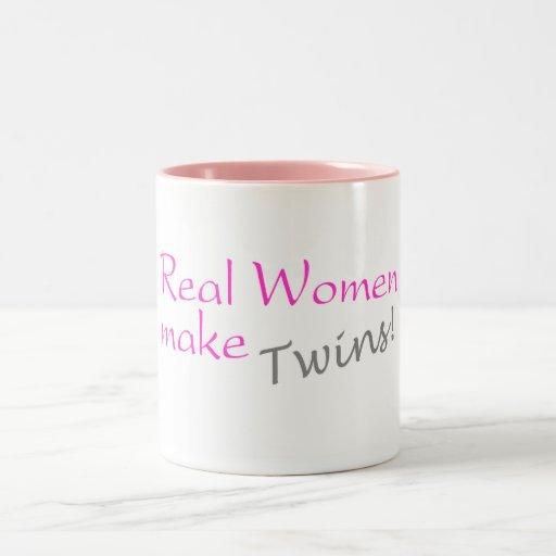 Real Women Make Twins Two-Tone Coffee Mug