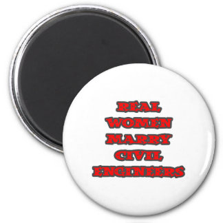 Real Women Marry Civil Engineers 2 Inch Round Magnet