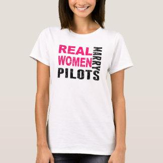 Real Women Marry Pilots T-Shirt