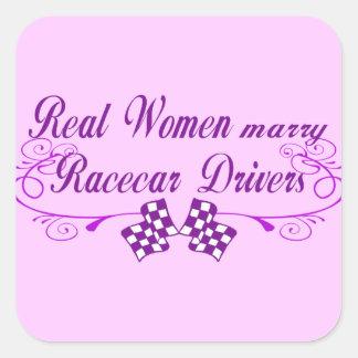 Real Women Marry Racecar Drivers Sticker