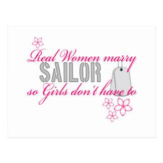 Real Women Navy Postcard