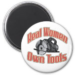 Real women own tools 2 inch round magnet