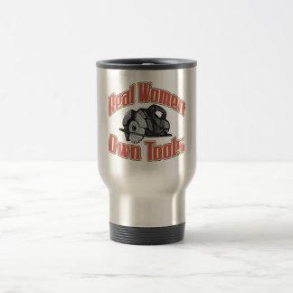 Real women own tools 15 oz stainless steel travel mug