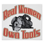 Real women own tools print