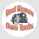 Real women own tools sticker