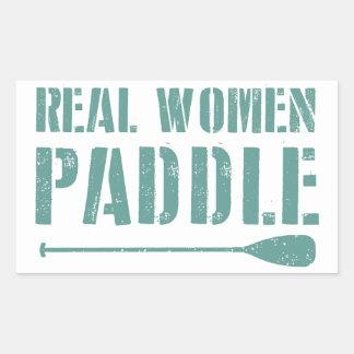Real Women Paddle Rectangular Sticker