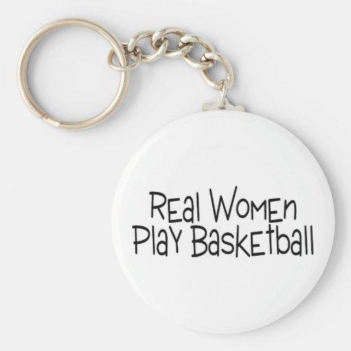 Real Women Play Basketball Key Chain