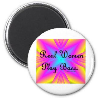 Real Women Play Bass Fridge Magnet