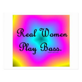 Real Women Play Bass Postcard