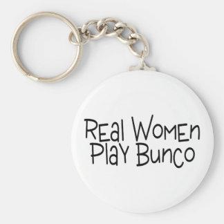 Real Women Play Bunco Basic Round Button Keychain