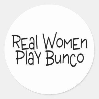 Real Women Play Bunco Classic Round Sticker