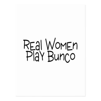 Real Women Play Bunco Postcard