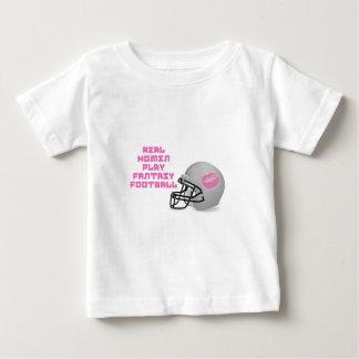 Real Women Play Fantasy Football Baby T-Shirt