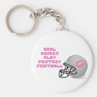 Real Women Play Fantasy Football Key Chain