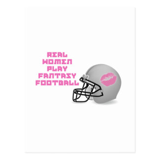 Real Women Play Fantasy Football Postcard