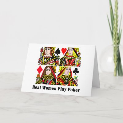 Real Women Play Poker Greeting Cards by londie
