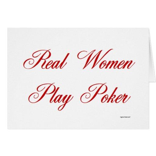 Real Women Play Poker Card