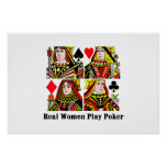 Real Women Play Poker Posters