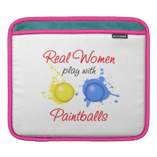 Real Women Play with Paint Balls iPad Sleeves