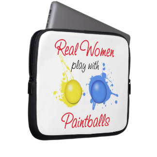Real Women Play with Paint Balls Laptop Computer Sleeves