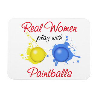 Real Women Play with Paint Balls Magnet